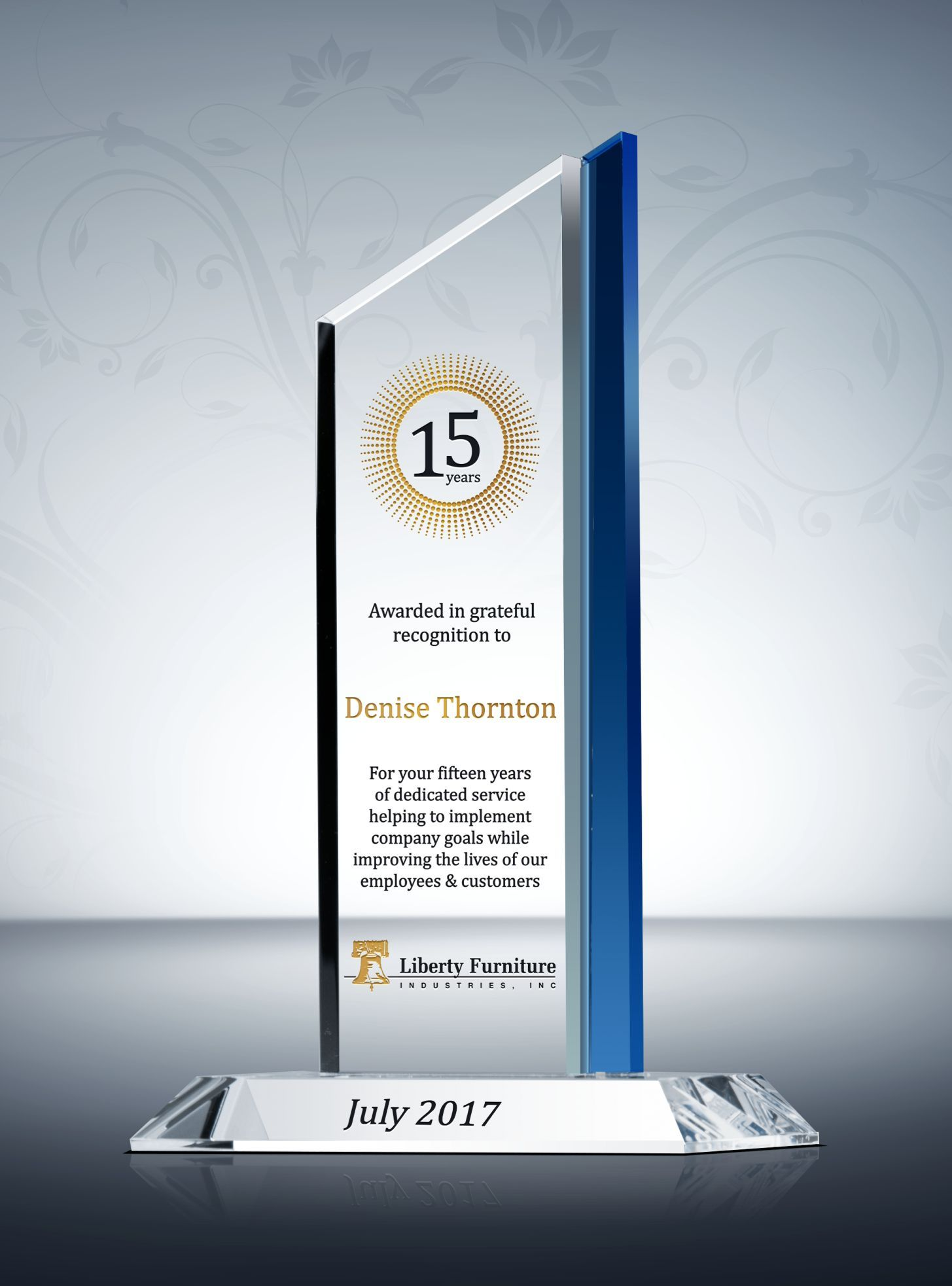 This Pinnacle Years Of Service Award Plaque Is Highlighted With Gold Blossoming Branches Honor 20 Years Of Service Award Plaques Service Awards Company Awards