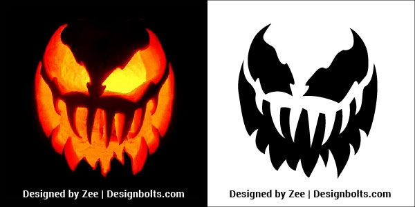 5 Trendy Pumpkin Carving Stencils    Printable Patterns