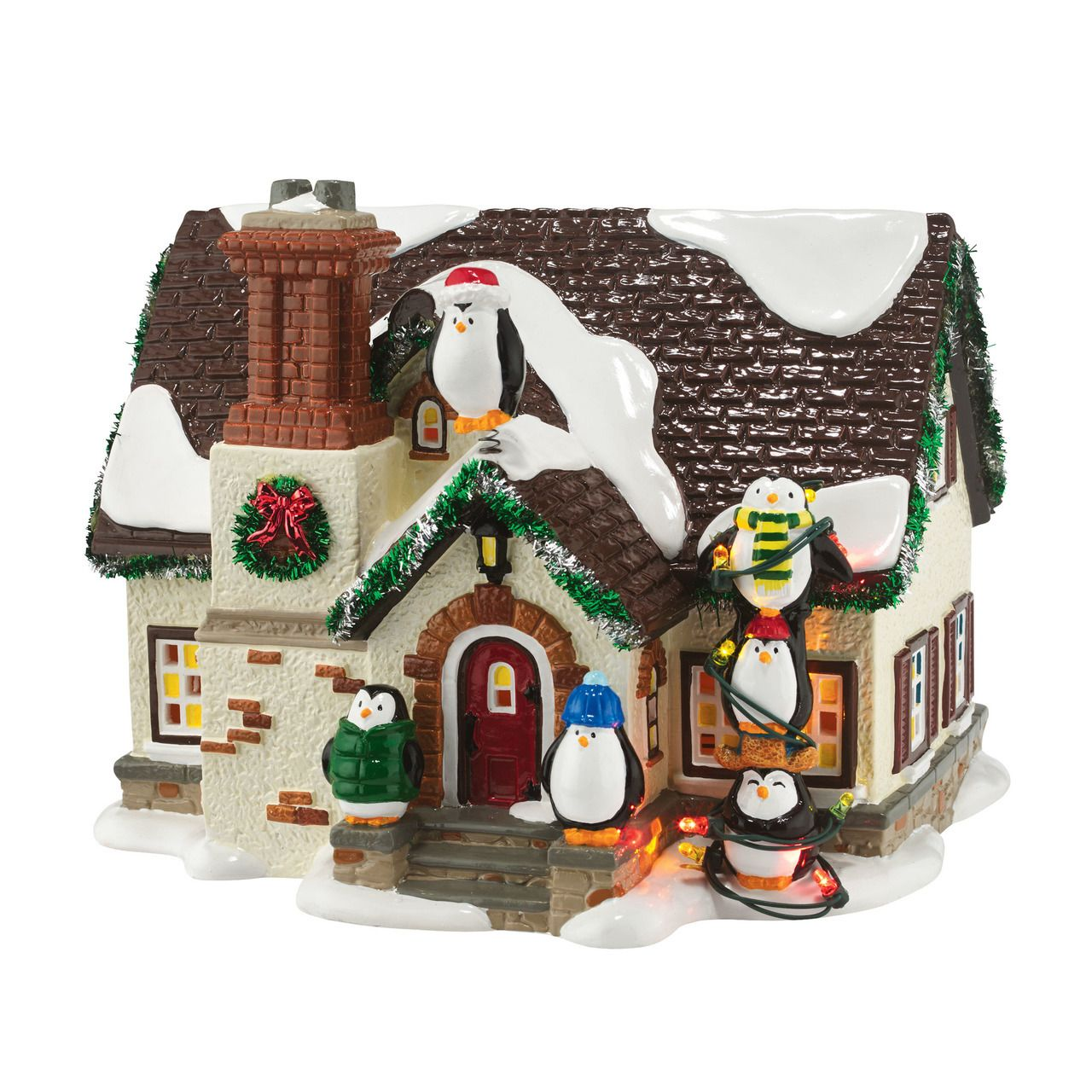 The Jolly Christmas Shop Department 56 Snow Village The Penguin House 4050980 125 00 Http Www T Snow Village Christmas Villages Christmas Village Houses