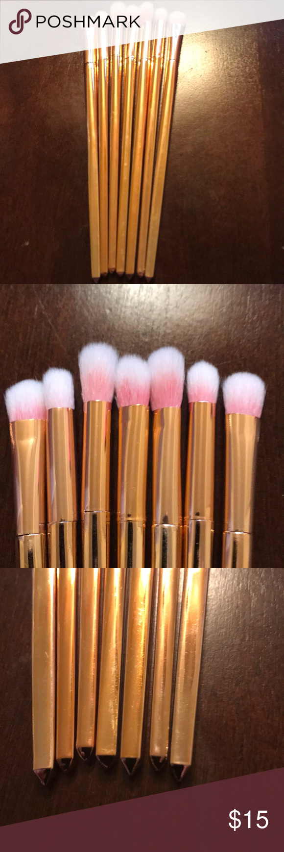New 7 piece make up brushes NWT Makeup brushes, Makeup