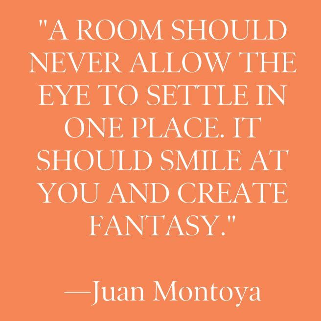 A room should smile...