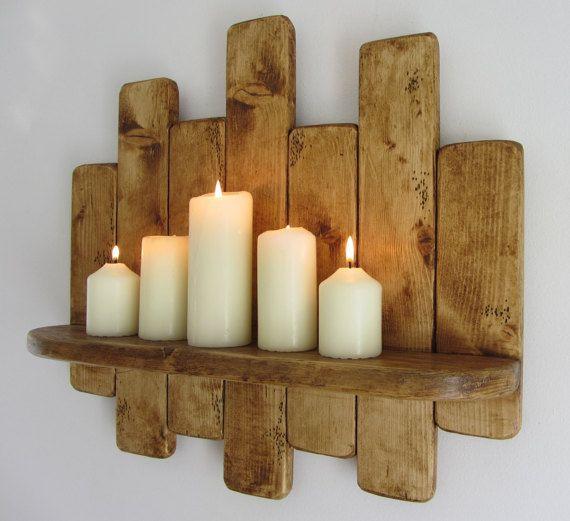 50 Cm Rustic Reclaimed Pallet Wood Floating Shelf Kitchen Shelf