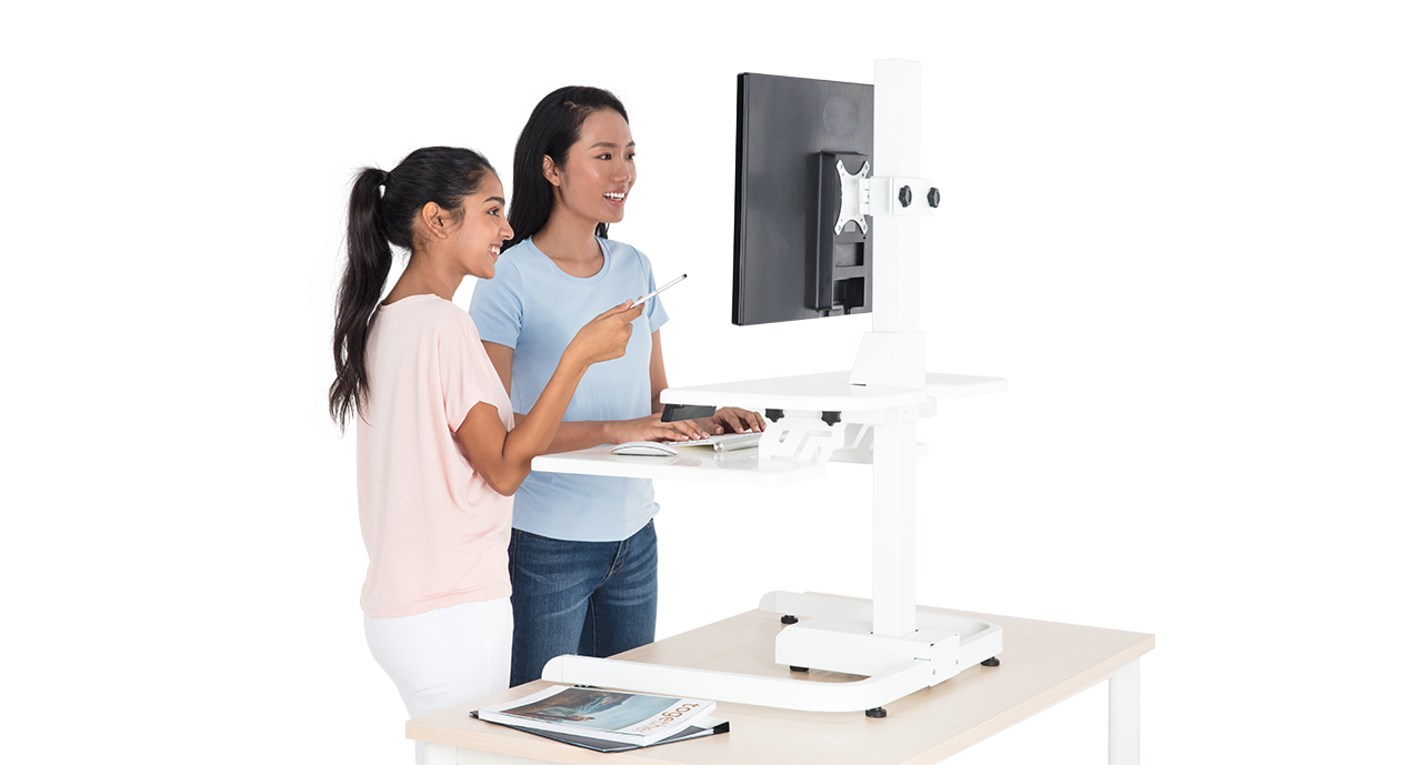 minidesk white 3 Adjustable height standing desk, Smart