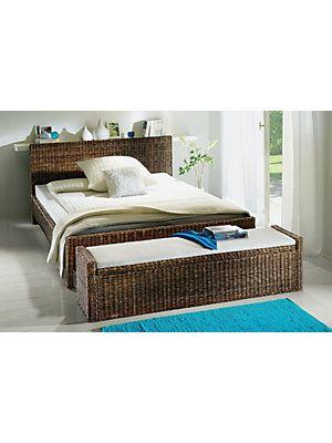 Rattan Bett Mit Truhe Wohnen Bett Schlafzimmer