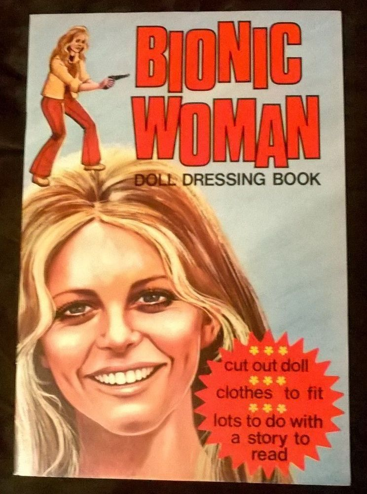 BIONIC WOMAN PAPER DOLL BOOK  FEATURING LINDSEY WAGNER UNCUT VINTAGE