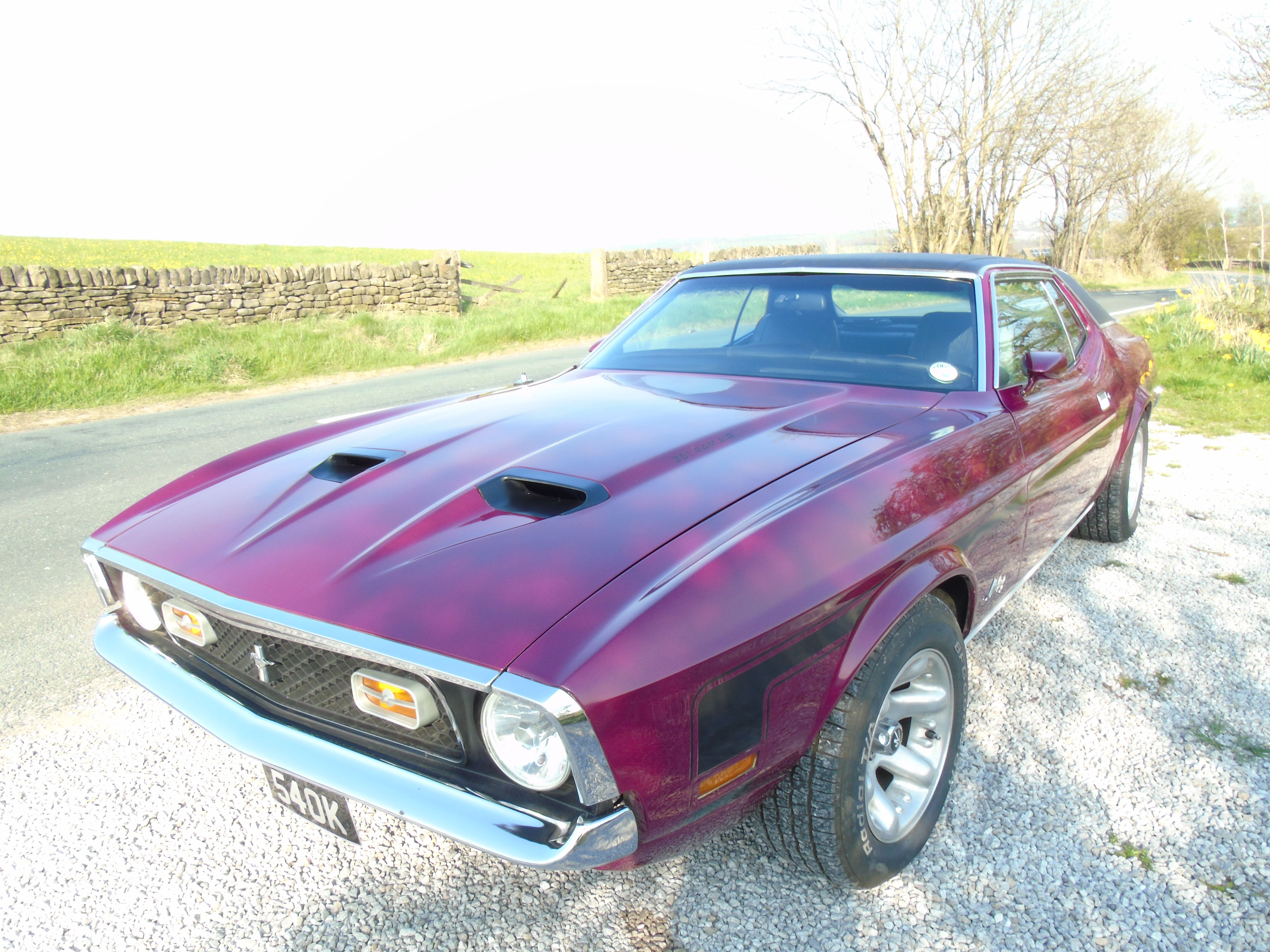 1972 mustang grande with mach 1 grill and decals