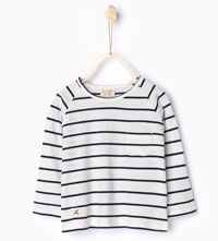 Organic cotton striped T-shirt-T-shirts-Baby boy | 3 months - 3 years-KIDS | ZARA Canada