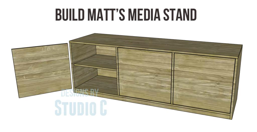 Beau Plans Build Matts Media Stand