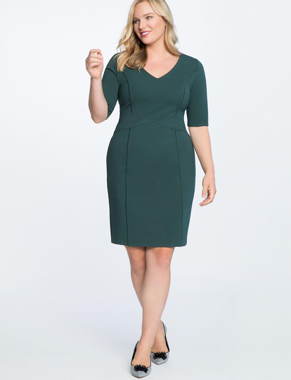 9 To 5 Stretch Work Dress Women S Plus Size Dresses Eloquii Work Dresses For Women Plus Size Dresses Dresses For Work [ 1370 x 1050 Pixel ]