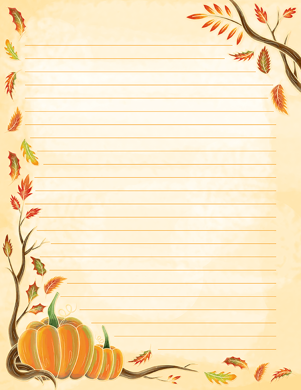 Watercolor Fall Stationery Free Printable Stationery Printable Stationery Printable Lined Paper