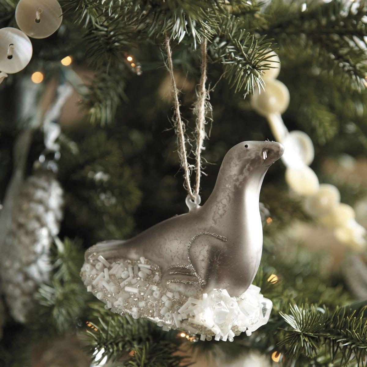 Sea Lion Glass Ornament