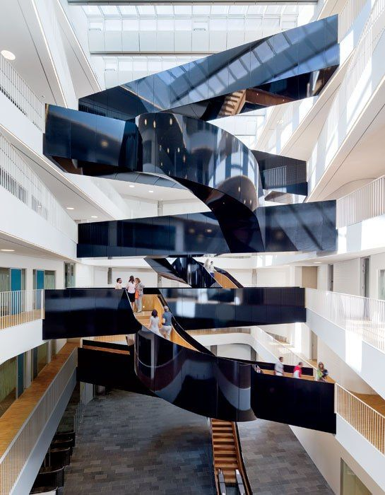 Terrific United Nations Headquarters In Copenhagen By 3Xn Stairs Interior Design Ideas Tzicisoteloinfo