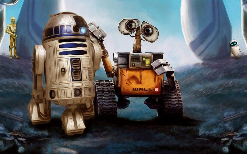 R2D2 & WallE Robot buddies Robot cartoon, Good