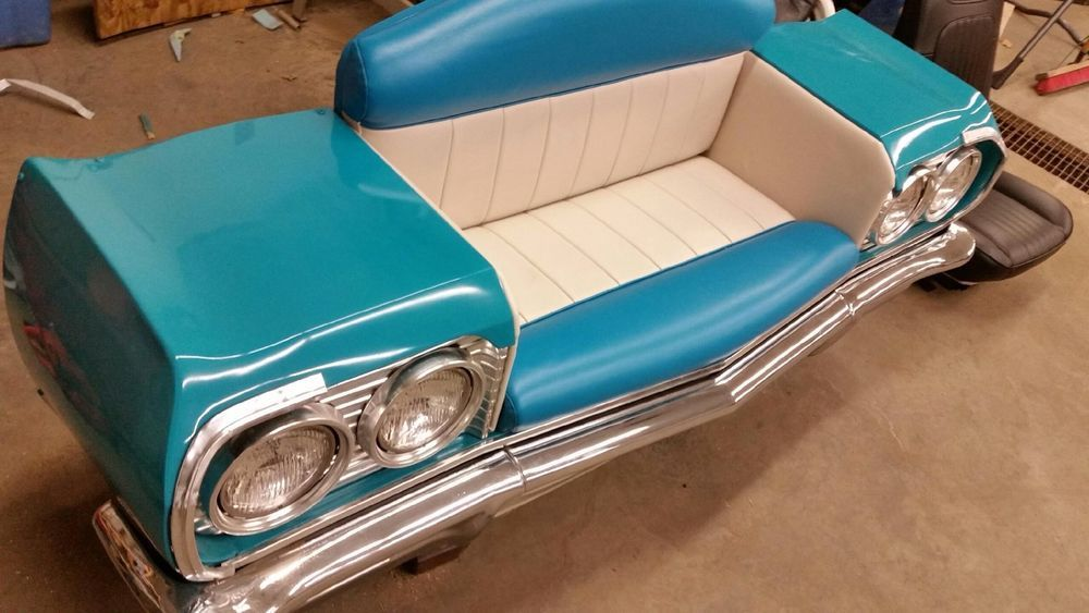 1964 Chevy Car Couch Man Cave Bar Diner Booth | Man cave bar, Diners ...