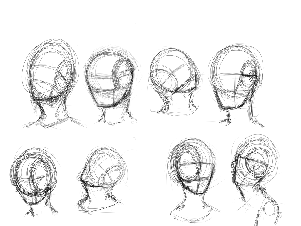 worksheet Angle Drawing face angles by kiwi in a box on deviantart how to draw head deviantart