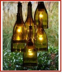 Como Hacer Lamparas Con Botellas De Vidrio Recicladas Como Hacer Hermosas Lamparas Con Material Reciclado Buscar Con