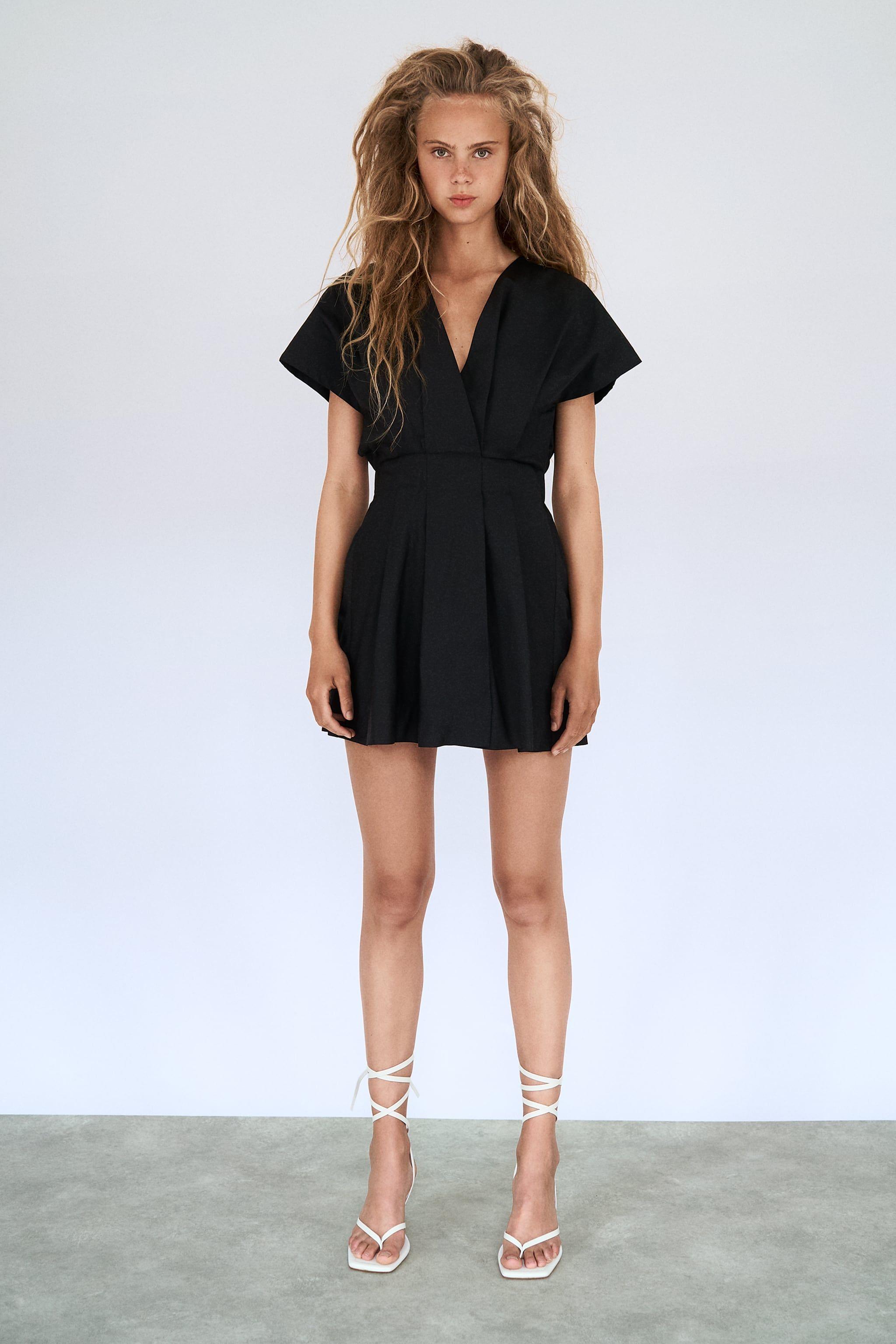 Poplin Dress Trf Zara United States Poplin Dress Gathered Dress Dresses [ 3072 x 2048 Pixel ]