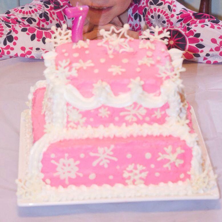 Pink Strawberry Frozen Cake Idea Just add Disney Frozen cake