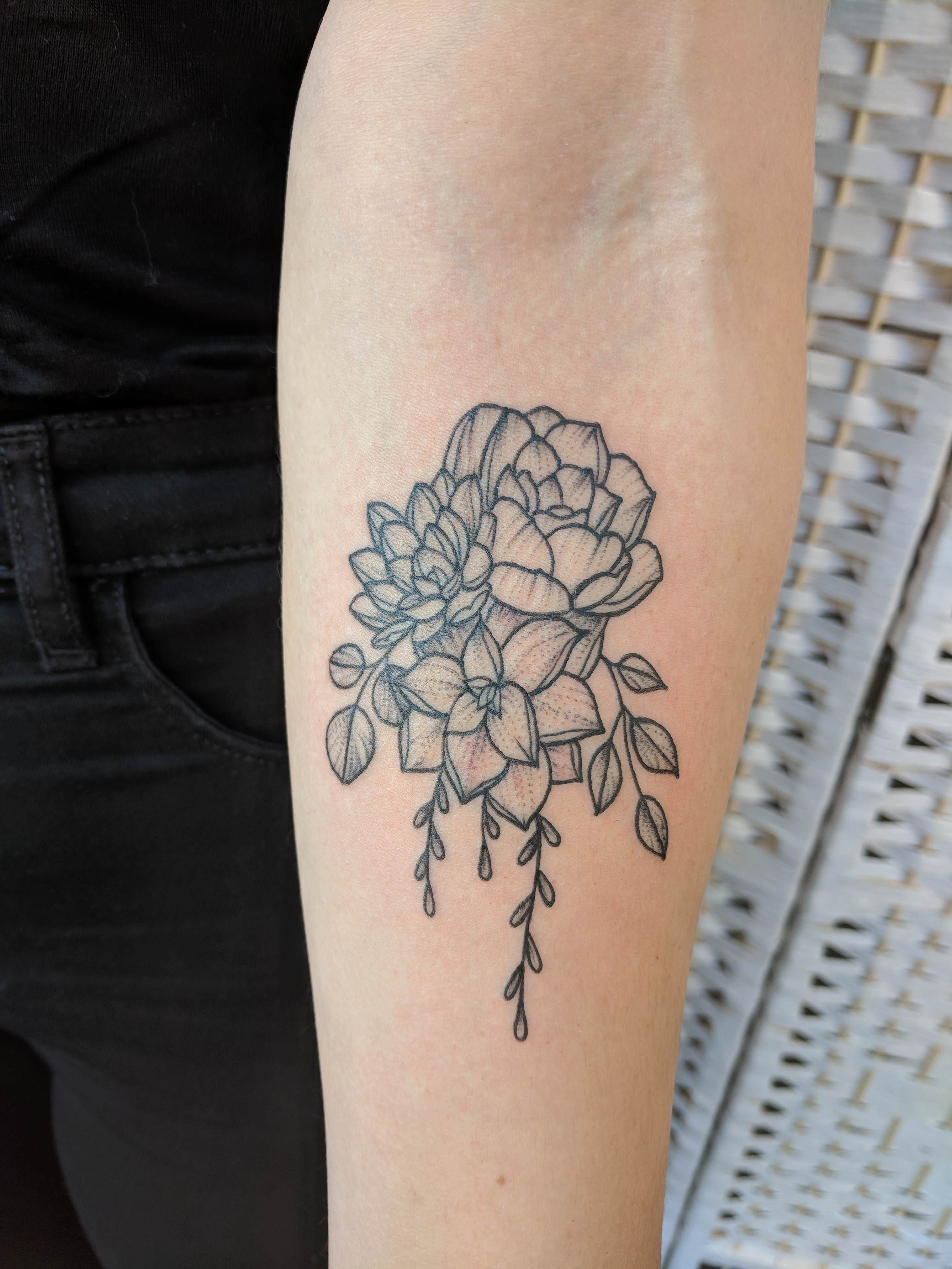 Cluster of succulents by lucie morticia in guns n ink