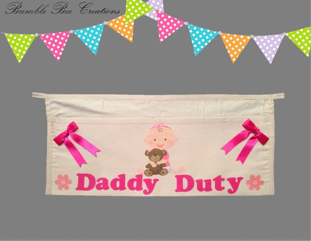 Daddy Duty Tool Belt Alone - Baby Girl Hugging Teddy Bear by BumbleBeeCreations83 on Etsy https://www.etsy.com/listing/229116535/daddy-duty-tool-belt-alone-baby-girl