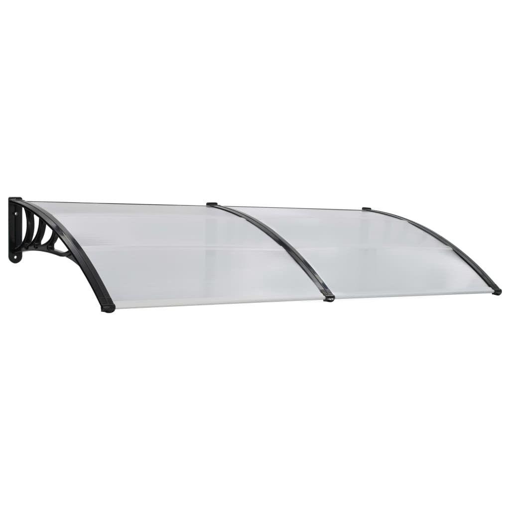 Door canopy 200×100 cm plastic white