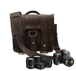 Rustic looking camera bag