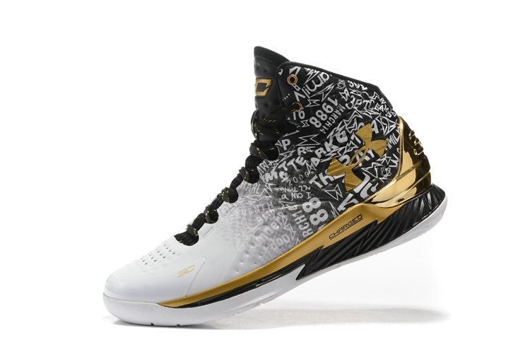 curry 1 white and gold