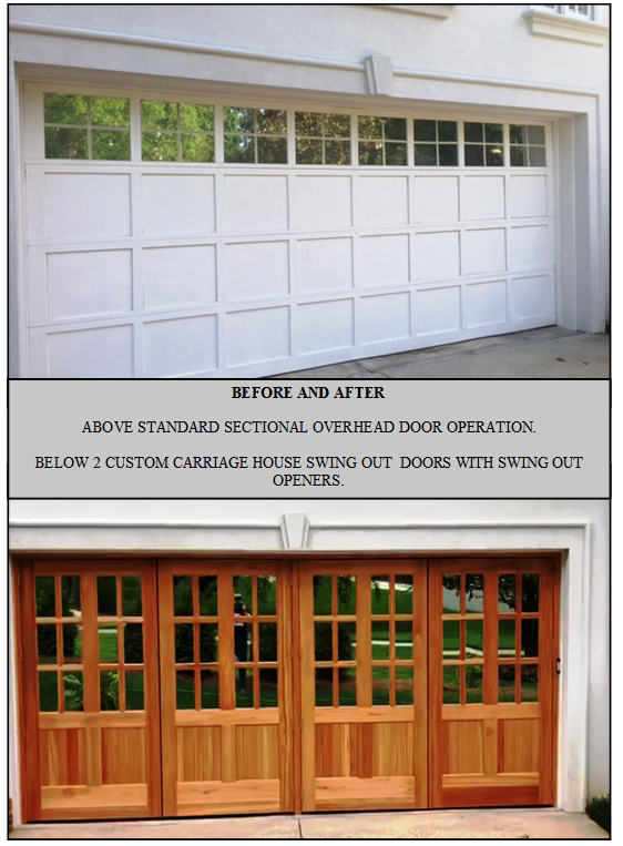 Replaced 1 18 X 8 Painted White Garage Door To 2 Custom Carriage