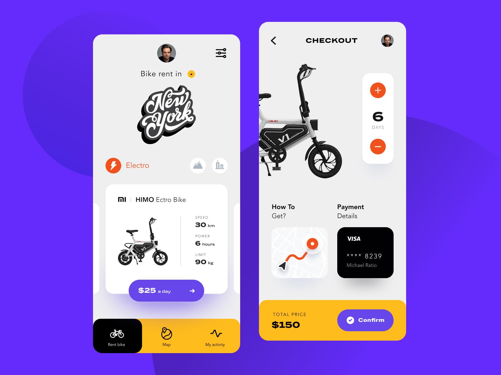 Bike Rent App Дизайн