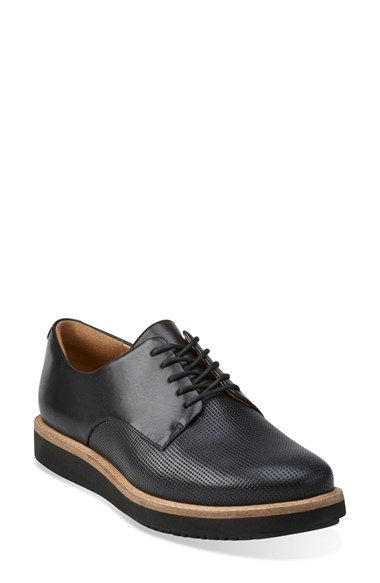 Clarks Glick Darby Ladies Black Casual Shoes