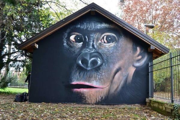 Artist Cheone latest Street Art mural in Masero, Dallas, Texas
