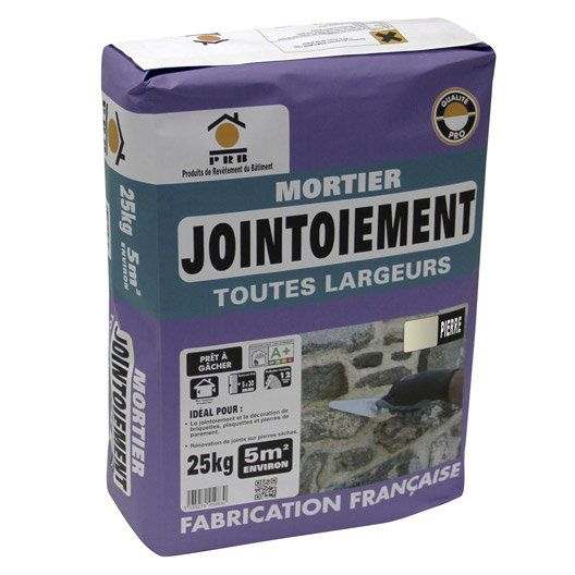Mortier De Jointoiement Pierre Prb 25 Kg Mortier Pierre