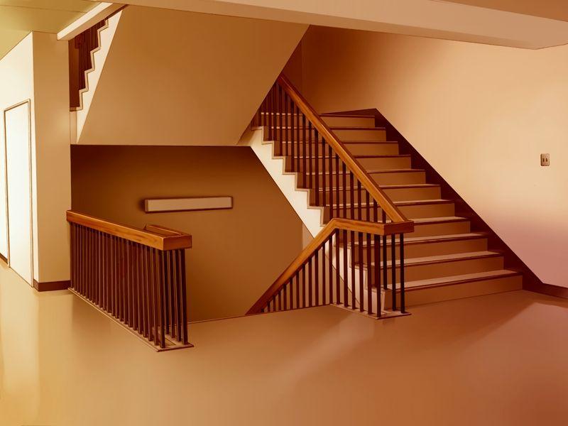 School Stairs 1 By Marklauck Deviantart Com On Deviantart 学校 イラスト 校舎 風景
