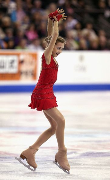 Elena Radionova,2014 Skate America, Red figure skating dress inspiration for Sk8 Gr8 Designs