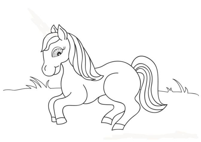 Cooloring Book : 43 Horse Coloring Pages For Preschoolers