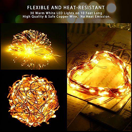6 Pack Led Starry String Lights Poshei 30 Leds Christmas