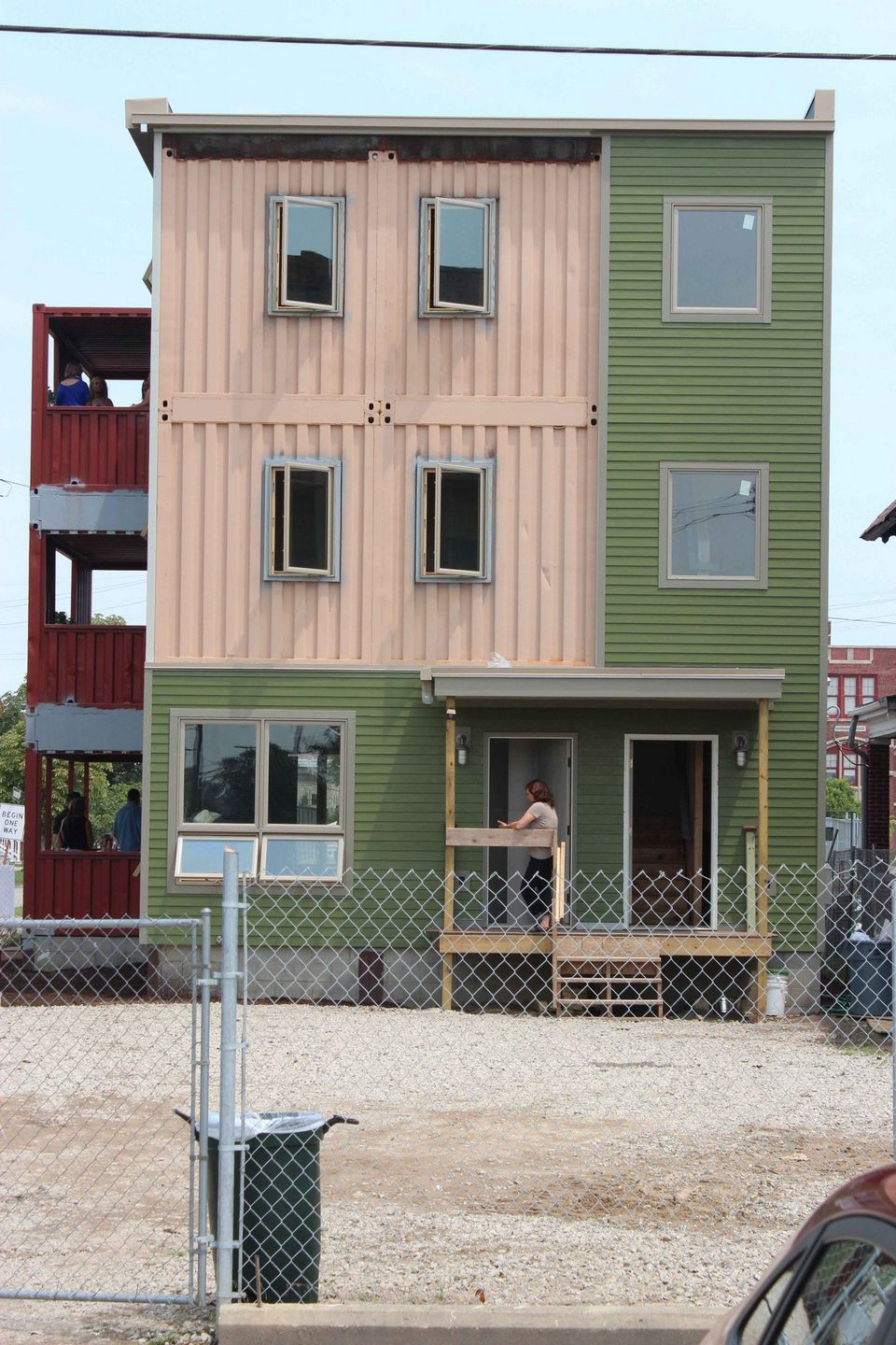 Detroit Shipping Container Model Homes Near Completion Model