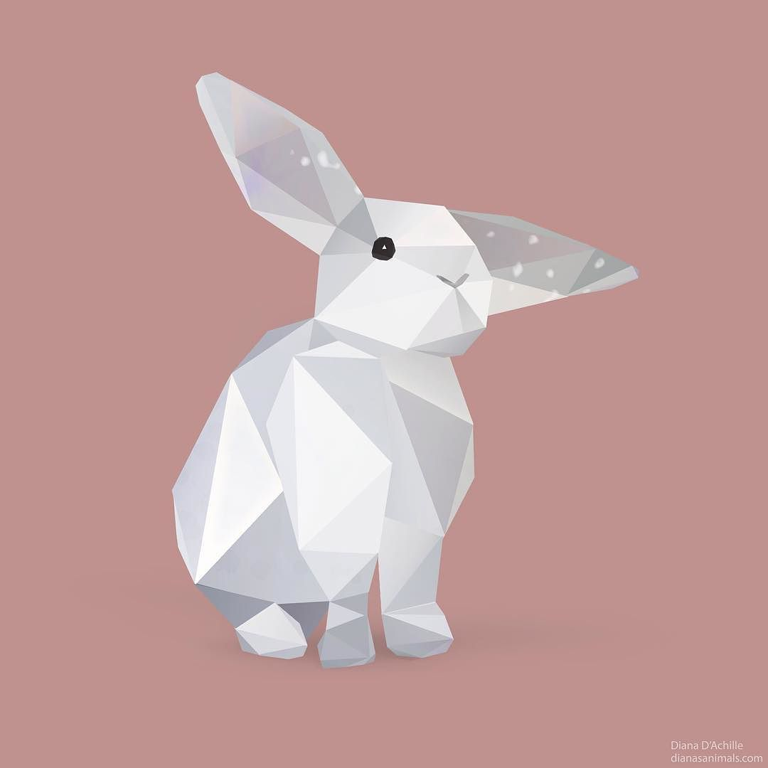 Rabbit Graphic Geometric Mas
