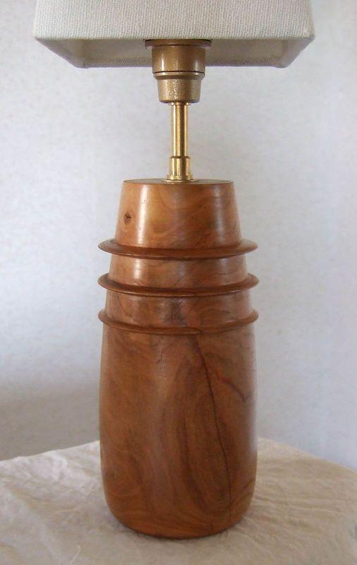 Pied De Lampe En Cerisier Deco Bois Tourne Pinterest Wooden