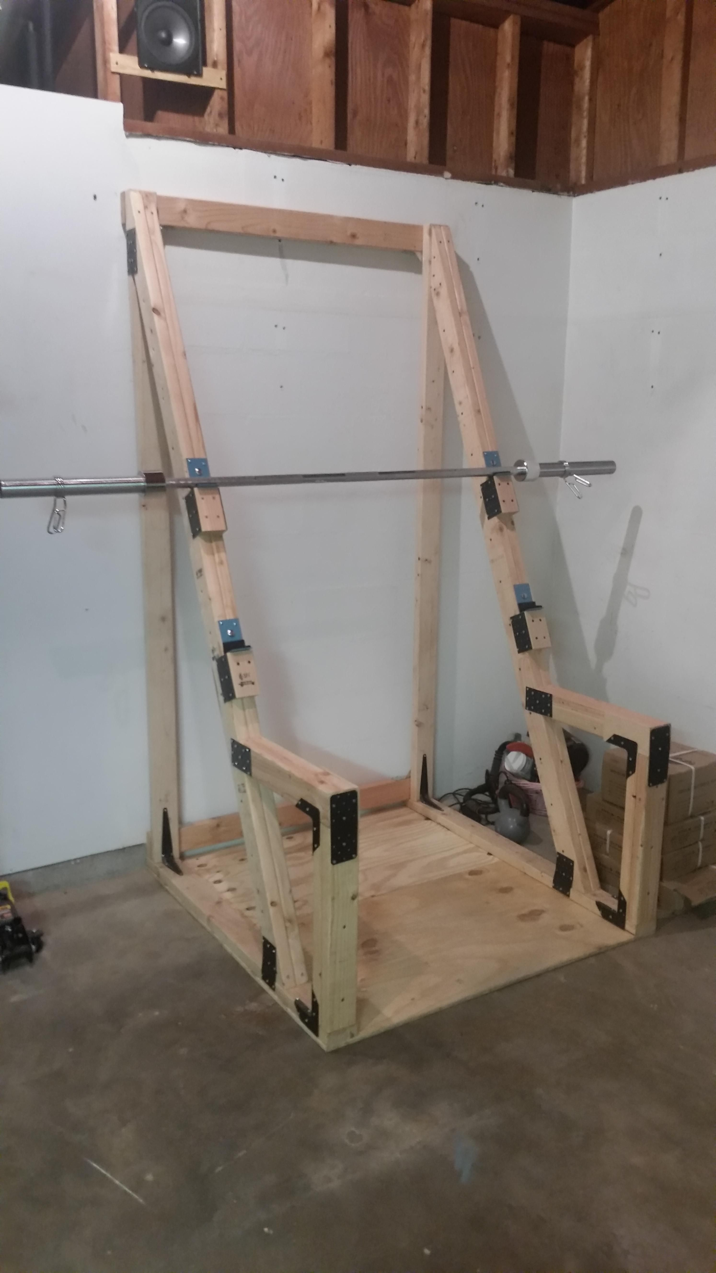 DIY Squat Rack Diy home gym, Gym room at home, Squat