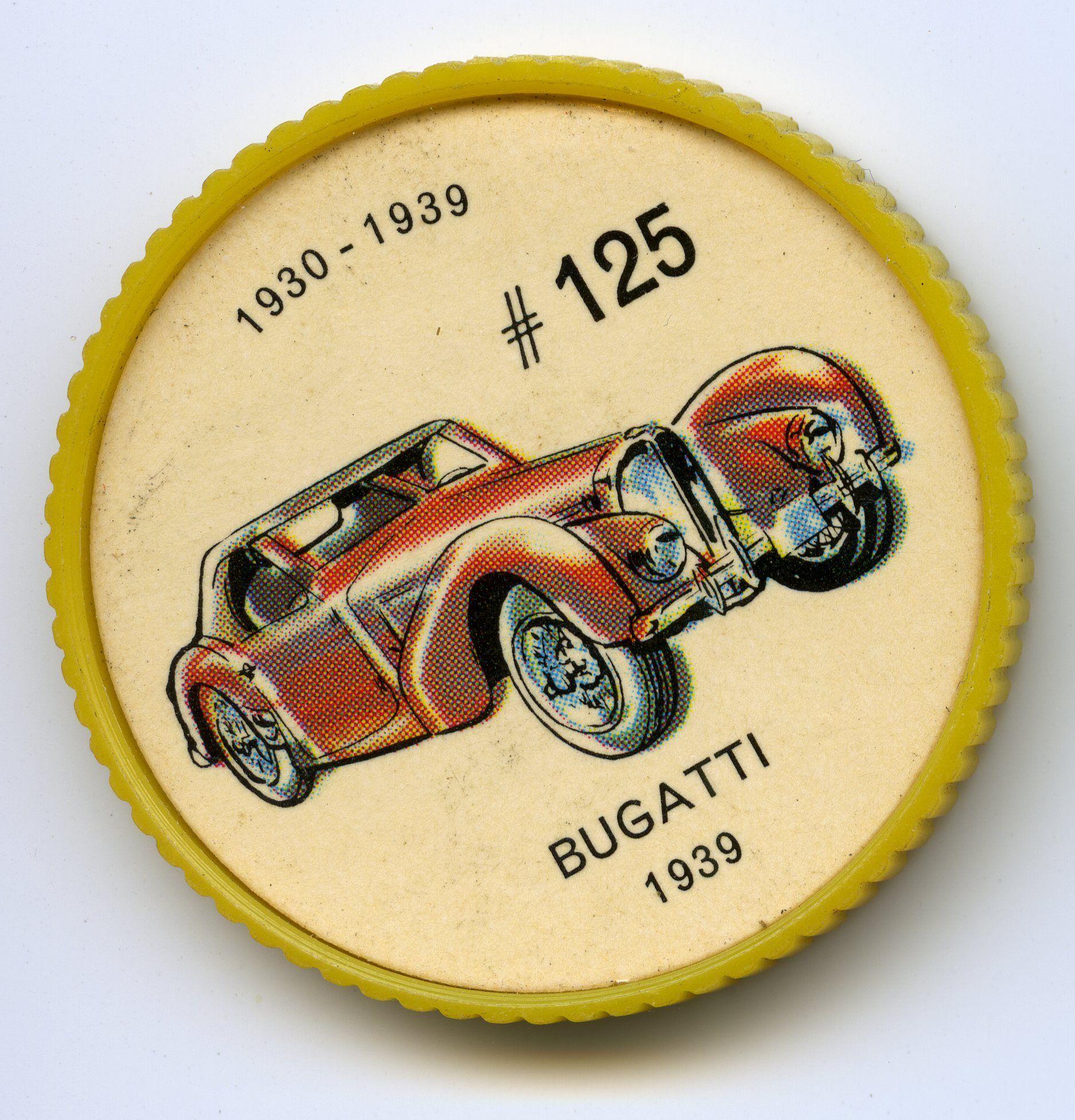 Jello O Coin 125 Bugatti 1939 Ettore Bugatti Le