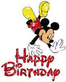Mickey Mouse - Happy Birthday Glitter