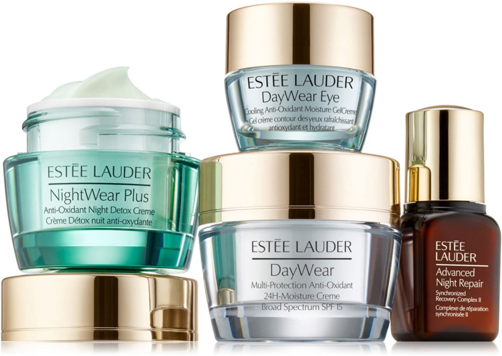 Estee Lauder S Skin Of Your Dreams Protect Glow Essentials Set Is A Daily Regimen To See Smoother Fresh Estee Lauder Skin Care Online Cosmetics Estee Lauder