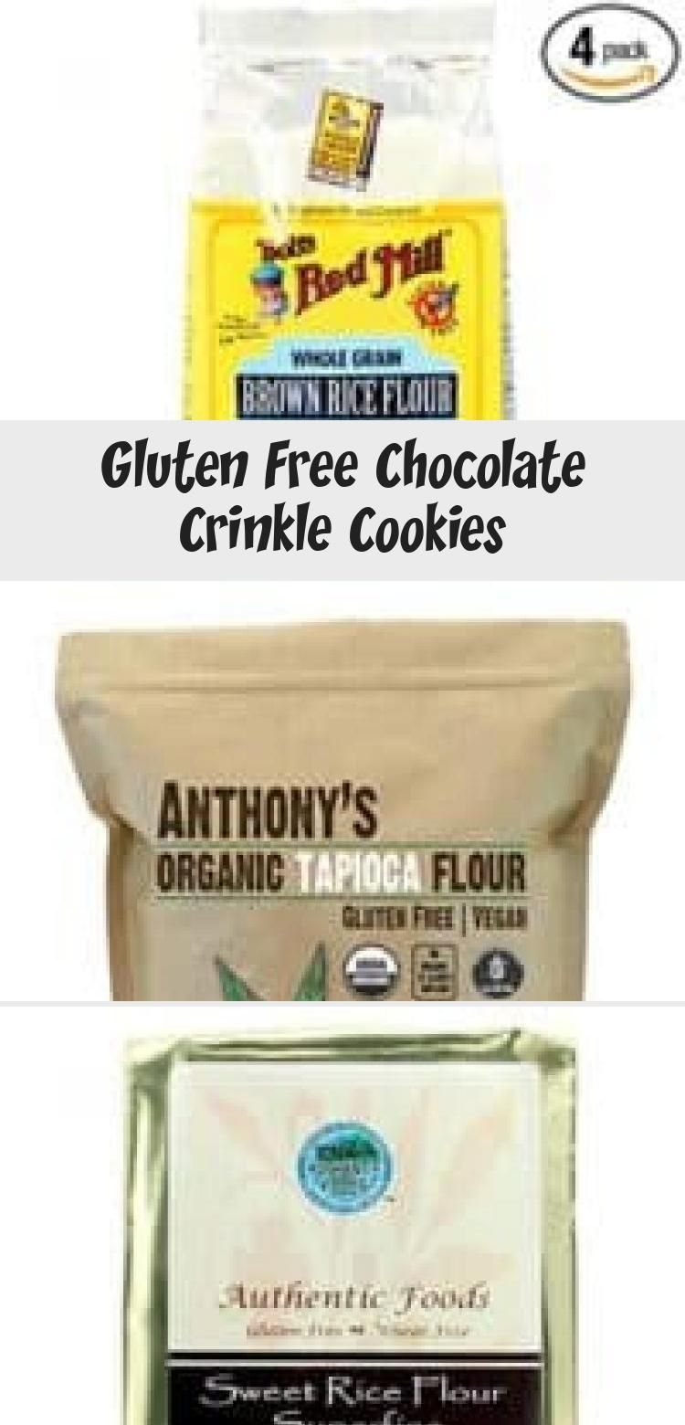 Gluten Free Chocolate Crinkle Cookies - Cooking Tips / Gluten Free Recipe #chocolatecrinklecookies