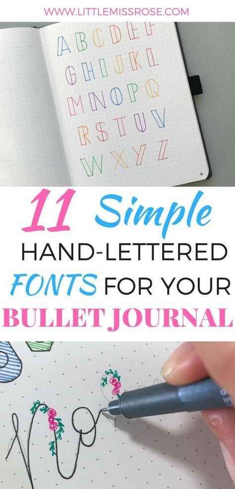 11 Simple Hand Lettered Fonts For Your Bullet Journal Planner