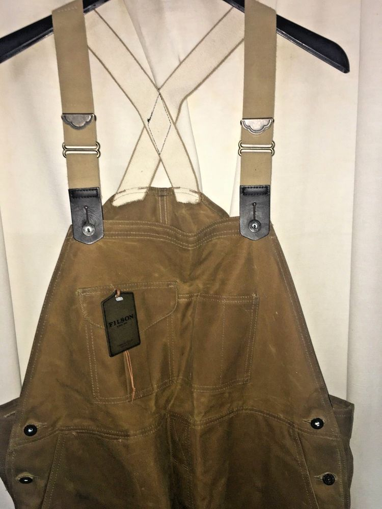 bbcfe45e3aa5d6 NEW WITH TAGS FILSON MADE IN USA OIL FINISH DOUBLE TIN BIBS 38 X 32 $325  #fashion #clothing #shoes #accessories #mensclothing #pants (ebay link)