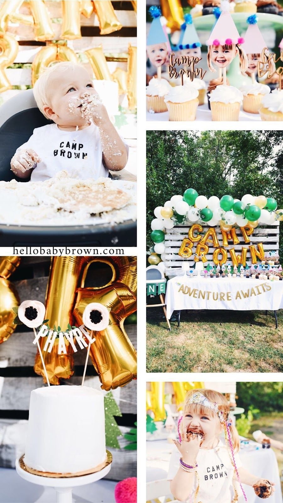 Camp Brown Phayre And Briar S Shared Camping Birthday Party