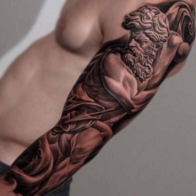 Les Magnifiques Tatouages De Statues De Jun Cha Inkage Inspiration