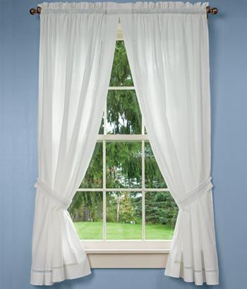 Country Curtains Diamond Band Curtain, Lace Curtains Band