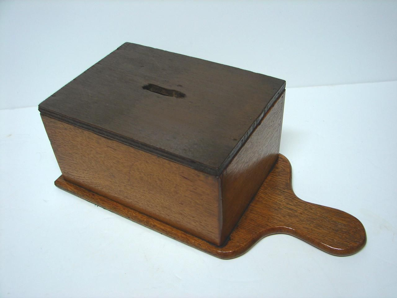 Buy Money Box Antique Oak Charity Alms Donation Money Church Collection